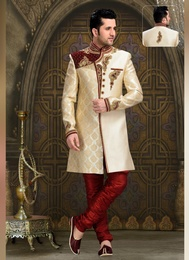 Vogue Cream Color Western Sherwani