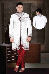 Royal King Look White Color Royal Sherwani