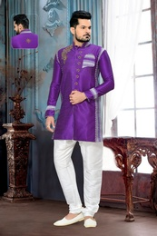 Unique Beautiful Purple Royal Sherwani For Men