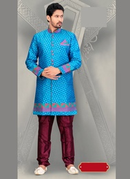Glamour Look Royal Rich Blue Color Royal Sherwani