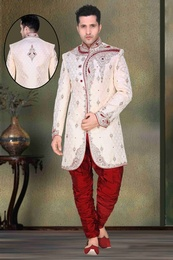 Attractive Look White Color Royal Sherwani For Wedding