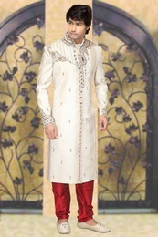 Smashing Your Look Cream Color Royal Sherwani
