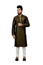 Multi Brocadesilk Wedding Kurta Pajama