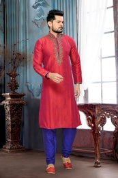 Red Color Wedding Ceremony Kurta Payjama