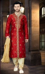 Buy Maroon Kurta Online For Wedding