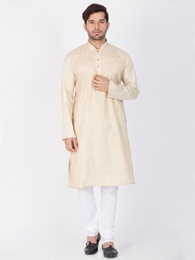 Classic Look Beige Kurta Payjama For Men