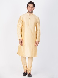 Bright Golden Online Kurta Payjama For Men