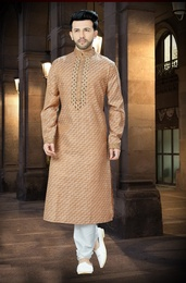 Online Brown Chudidar Kurta For Men
