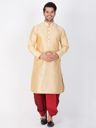 Online Heavy Look Golden Kurta For Men