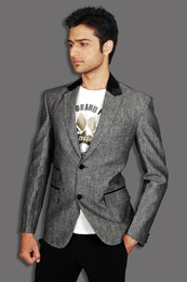 Stylish Modern Grey Linen Blazer BL5019