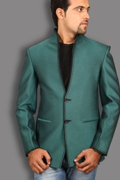 Graceful Green Linen Blazer BL5034
