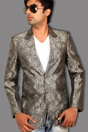 Handsome Heather Grey Blazer BL5033