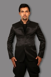 Stylish Black Jodhpuri Suit BL3059