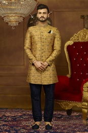 Admiral Yellow Marriage Indo Western Sherwani