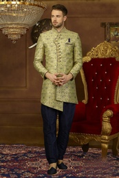 Grace The Occasion Asymmetrical Indo Western Sherwani
