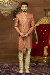 Luxurious Look Asymmetrical Indo Western Sherwani