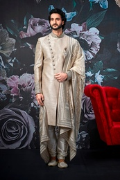 Royal Cream Wedding Sherwani