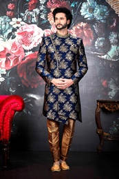 Trendy Asymmetrical Wedding Sherwani