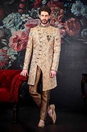 Asymmetrical Groom Wedding Sherwani