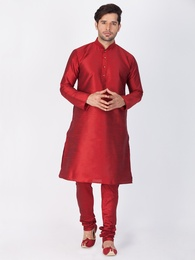 Beautiful Maroon Kurta Pajama For Men