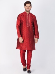 Dashing Maroon Kurta Pajama