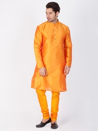 Delightfull Orange Kurta Pajama