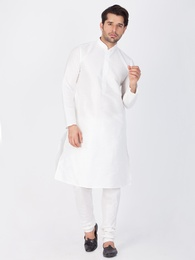 Perky And Fancy White Kurta Pajama