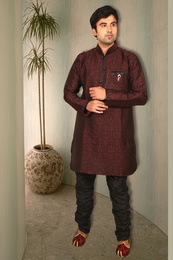 Stylish Maroon Silk Kurta BL4023