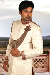 Emperor Look Cream Sherwani BL2031