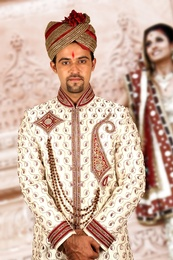 Royal White Sherwani BL2037