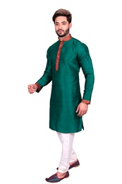 Glorious Green Silk Kurta Set