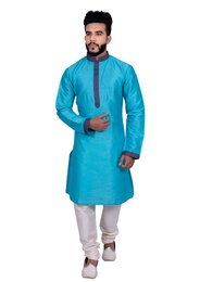 Glorious Blue Silk Kurta Set