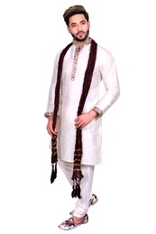 Basic Off White Silk Kurta Set