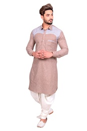 Designer Cotton Pathani Suit