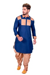 Cool Cotton Blue Pathani Suit
