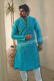 High Fashion Cool Blue Kurta BL4034