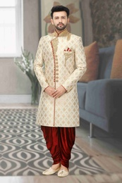 Groom Wedding Dhoti Sherwani