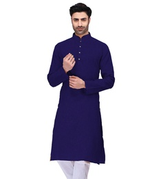 Beautiful Navy Blue Cotton Kurta