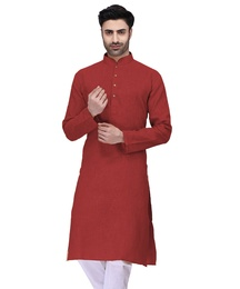 Eye Catching Red Cotton Kurta