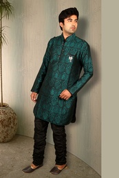Gorgeous Green Semi Sherwani BL4024