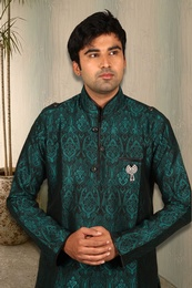 Graceful Green Pathani Suit BL4024