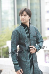 Green Semi Sherwani BL1048