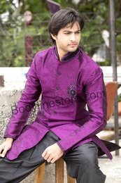 Purple Semi Sherwani BL1055