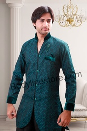 Green Semi Sherwani BL1057