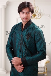Green Semi Sherwani BL1062