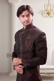 Dark Brown Semi Sherwani BL1073