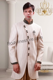 Cream Semi Sherwani BL1079