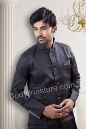Black Pathani Suit BL4043