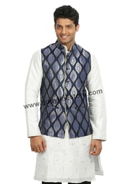 Blue Nehru Jacket RK4125