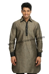 Cotton Linen Pathani Kurta RK4096